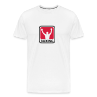 T-shirts ~ Herre premium T-shirt ~ Hvid Herre T-shirt med boxing logo