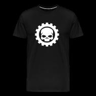 T-shirts ~ Herre premium T-shirt ~ Sort Herre T-shirt med sort Skull logo