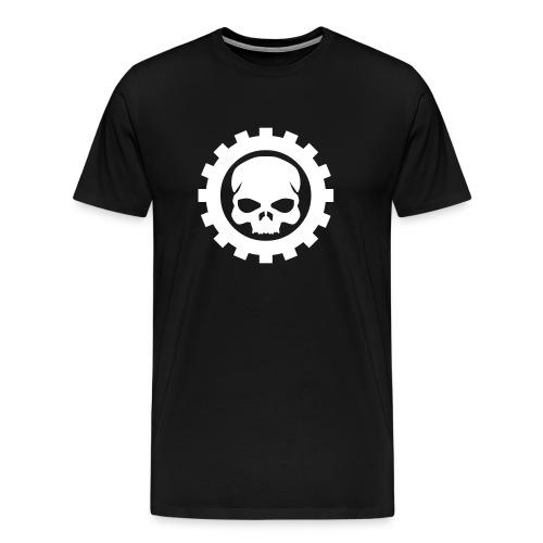 Sort Herre T-shirt med sort Skull logo - Herre premium T-shirt