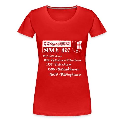 Düdinghausen since 1107 mit Namensänderung - Frauen Premium T-Shirt