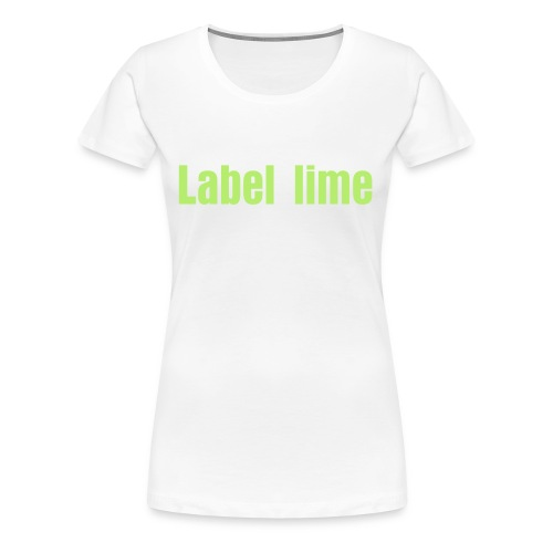 Label lime - Vrouwen Premium T-shirt