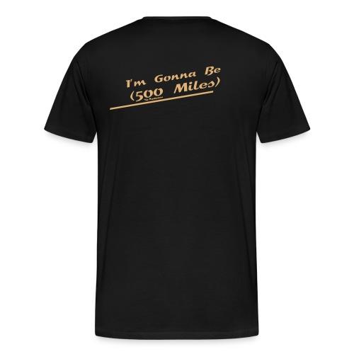 I'm Gonna Be (500 Miles) Flock Sand Indigo - Männer Premium T-Shirt