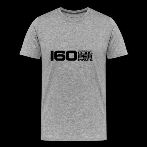 160 BPM (black) - Miesten premium t-paita