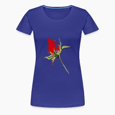 rote Rosenknospe,red rose bud T-Shirts