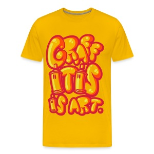 Graffitis is art jaune - T-shirt Premium Homme