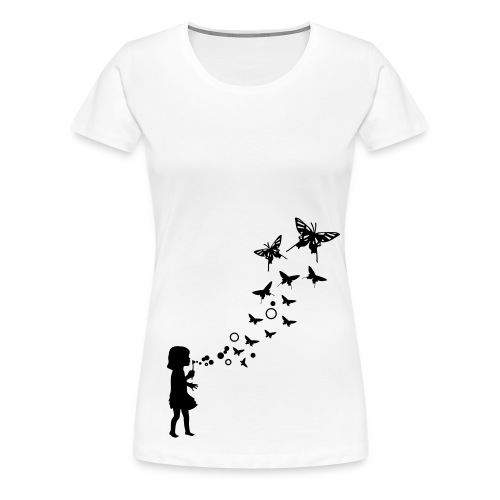 Bubble Schmetterling Shirt - Frauen Premium T-Shirt