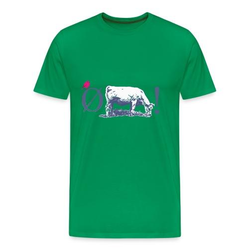 Ø+ko = Øko, m.fugl, klassisk tee - Men's Premium T-Shirt