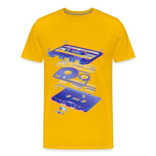 Blured Tape Tshirt - Men's Premium T-Shirt