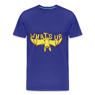 T-shirts ~ Mannen Premium T-shirt ~ Funny T-shirt met Vleermuis: What's up?