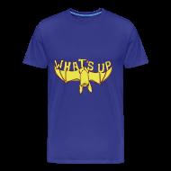 T-shirts ~ Mannen Premium T-shirt ~ Funny T-shirt met Vleermuis: What's up?