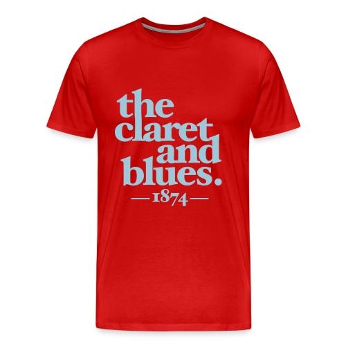CLARET & BLUES - CLARET/BLUE - Men's Premium T-Shirt