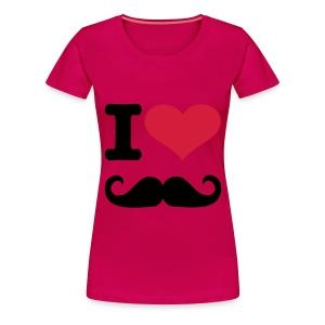 ik hou van mustache - Vrouwen Premium T-shirt