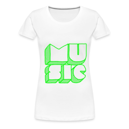 Music T-shirt Dame - Premium T-skjorte for kvinner