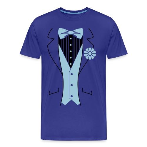 Casual T-Shirt Uomo Azzurra - Maglietta Premium da uomo