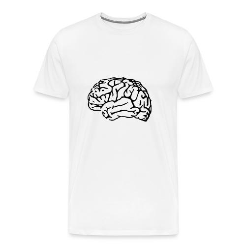 Brain tee - Herre premium T-shirt