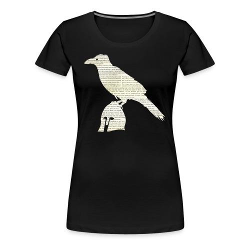 «El cuervo», poema - Camiseta premium mujer