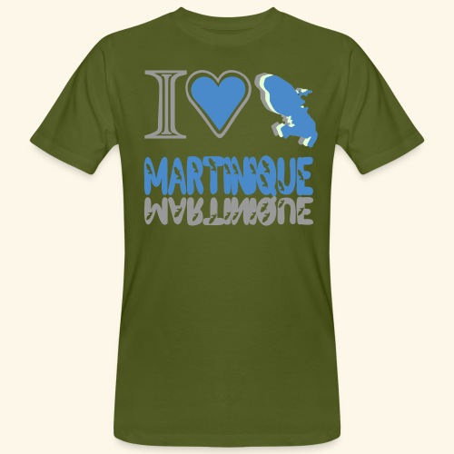 i love Martinique - T-shirt bio Homme