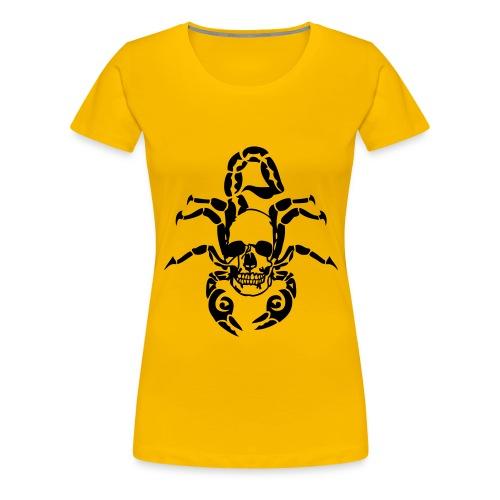 tribal scorpion tete mort skull dead1 Tee shirts - T-shirt Premium Femme