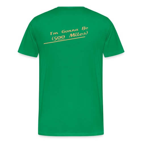 I'm Gonna Be (500 Miles) Flock Sand Grün - Männer Premium T-Shirt