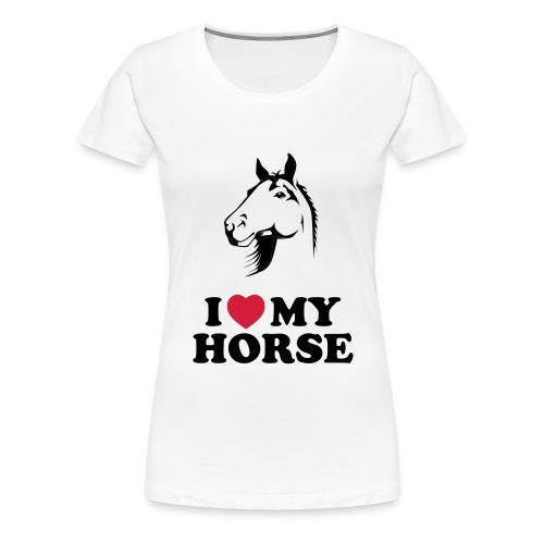 I Love My Horse Women's Plus Size T-Shirt - Women's Premium T-Shirt