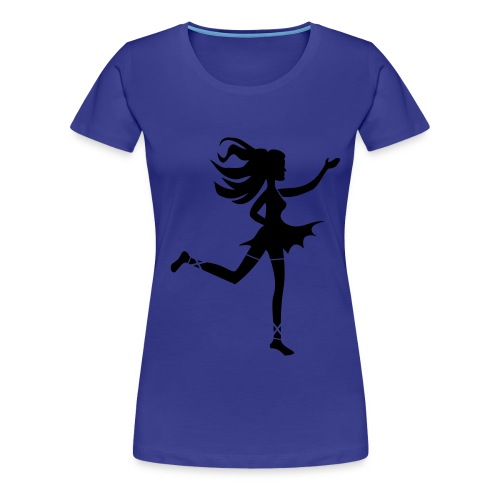 T-Shirt dunkelblau - Tänzerin - Frauen Premium T-Shirt