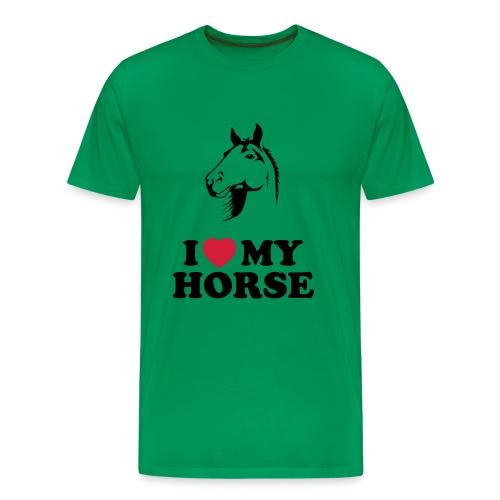 I Love My Horse Classic Men's T-Shirt - Men's Premium T-Shirt