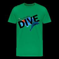 T-Shirts ~ Men's Premium T-Shirt ~ Mens Tee : Dolphin Dive