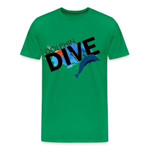 Mens Tee : Dolphin Dive  - Men's Premium T-Shirt