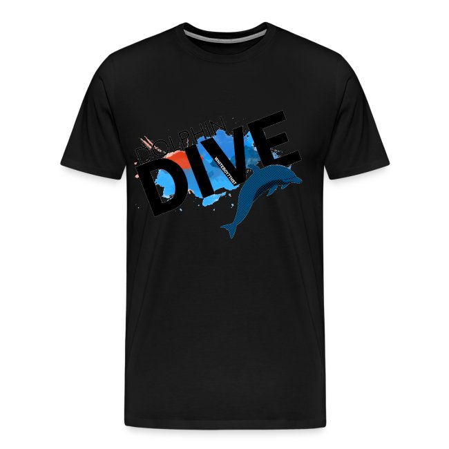Mens Tee : Dolphin Dive
