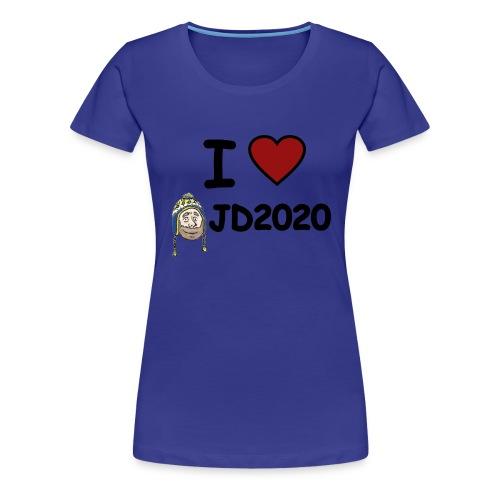WOMEN'S TEE: I HEART JD2020 - Women's Premium T-Shirt