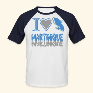 i love Martinique - T-shirt baseball manches courtes Homme