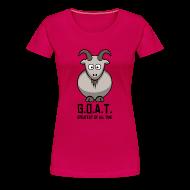 T-Shirts ~ Women's Premium T-Shirt ~ Lady G.O.A.T