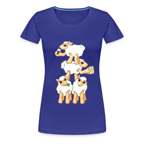 Moutons fêtant la St Patrick - T-shirt Premium Femme