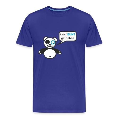 Panda-Shirt: Hab's bunt getrieben... Männer / hellblau - Männer Premium T-Shirt