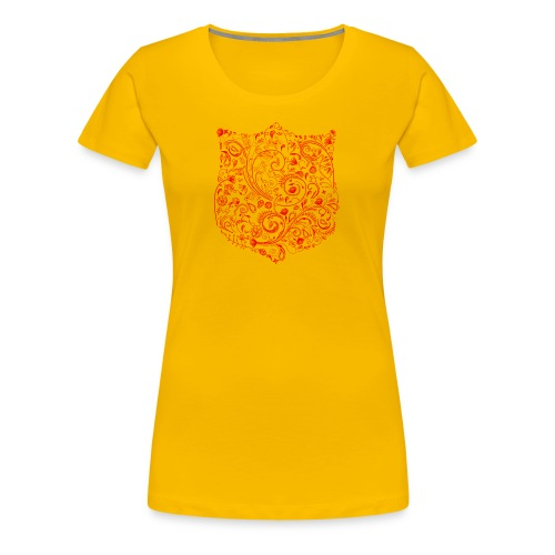 Floral Shield (rot) - Frauen Premium T-Shirt