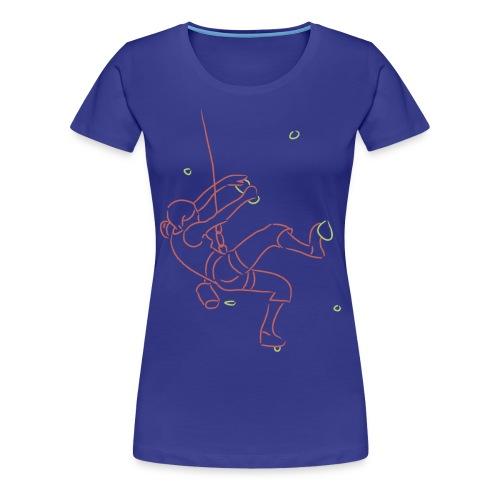Climbing fan shirt #2 - Vrouwen Premium T-shirt