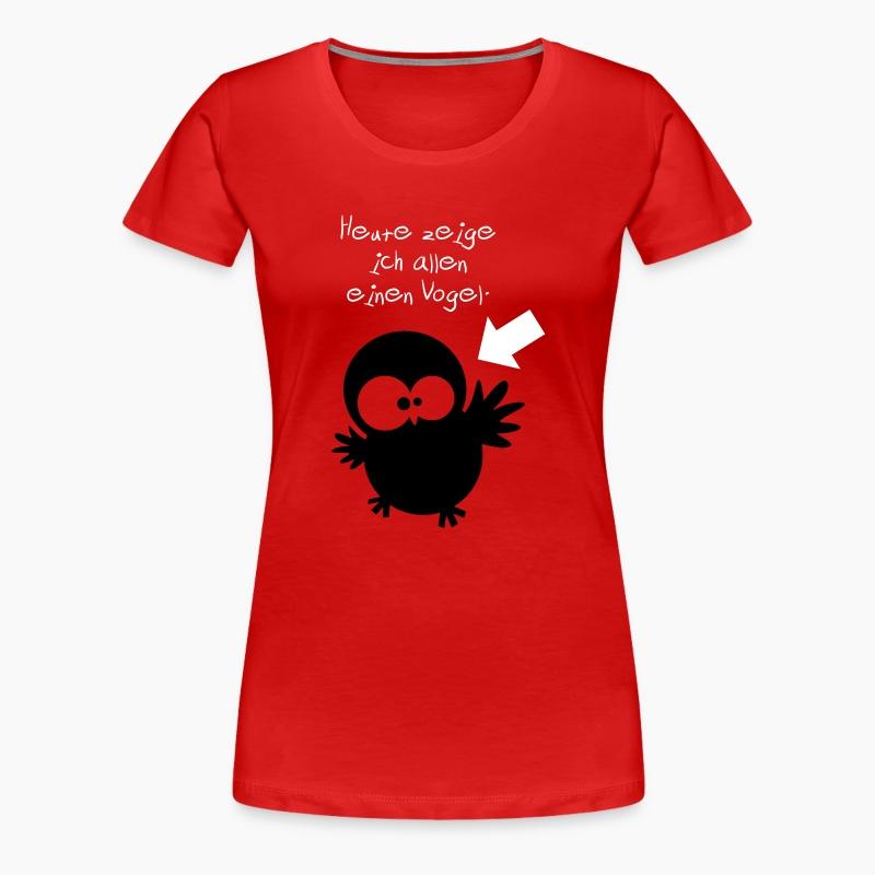 eule heute zeige ich allen einen vogel t shirt. Black Bedroom Furniture Sets. Home Design Ideas