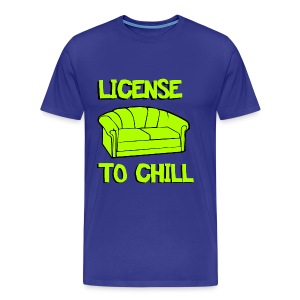 Funny T-shirt License to chill - Mannen Premium T-shirt