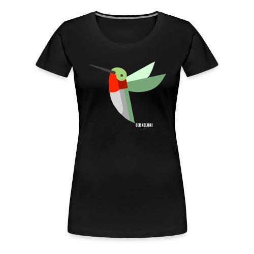 KOLIBRI CLASSIC WOMEN BLACK - Frauen Premium T-Shirt