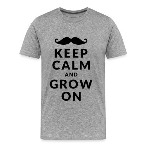 Keep Calm and Grow On - Mannen Premium T-shirt