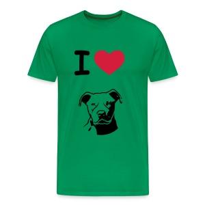 Pitbull love - Mannen Premium T-shirt