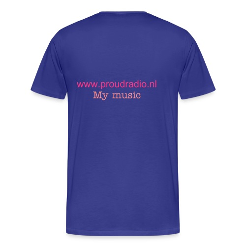 my music blue-pink - Mannen Premium T-shirt