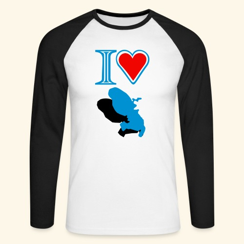 BaseballWear I love Martinique - T-shirt baseball manches longues Homme