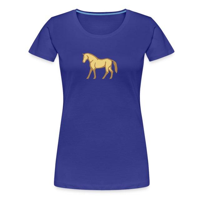 386e97609e6d8 Pferde T-Shirts | Braunes Pferd - Frauen Premium T-Shirt