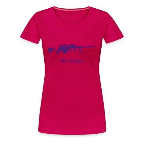 Womens Tee : No Scope (Purple)  - Women's Premium T-Shirt