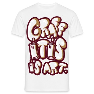 Graffitis is art marron - T-shirt Homme