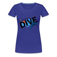 T-Shirts ~ Women's Premium T-Shirt ~ Womens Tee : Dolphin Dive