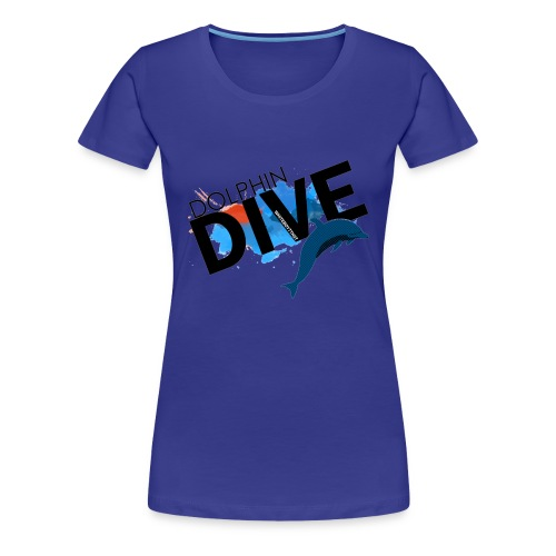 Womens Tee : Dolphin Dive  - Women's Premium T-Shirt