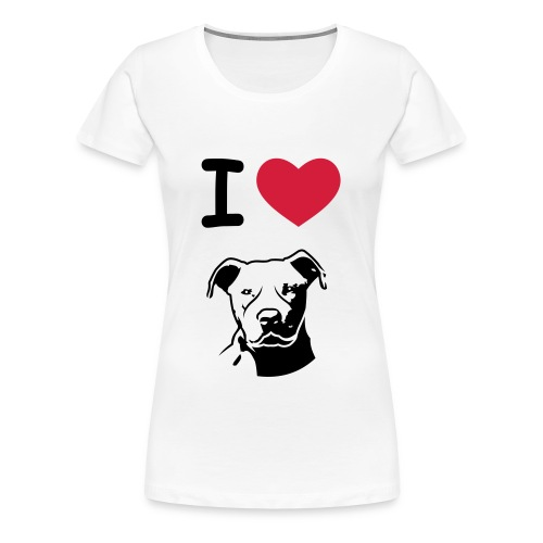 Pitbull love - Vrouwen Premium T-shirt