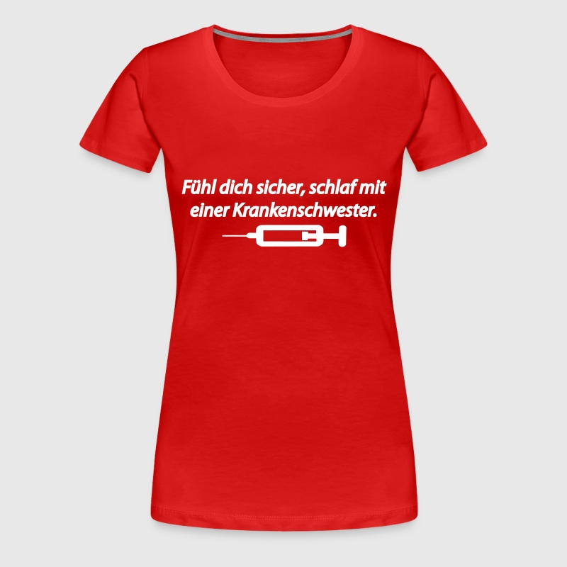 f hl dich sicher schlaf mit einer krankenschwester t shirt spreadshirt. Black Bedroom Furniture Sets. Home Design Ideas
